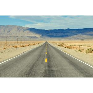 フリー写真, 風景, 建造物, 道路, 渓谷, デスヴァレー国立公園, 山, 砂漠, アメリカの風景, カリフォルニア州