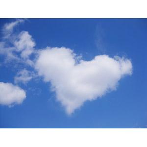 フリー写真, 風景, 自然, 空, 雲, 青空, ハート
