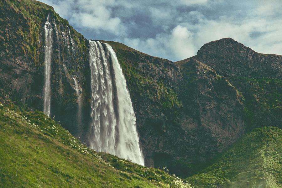 フリー写真 セリャラントスフォスの滝
