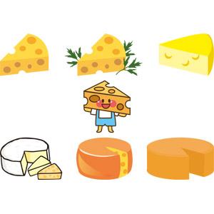 フリーイラスト, ベクター画像, AI, 食べ物(食料), 乳製品, チーズ