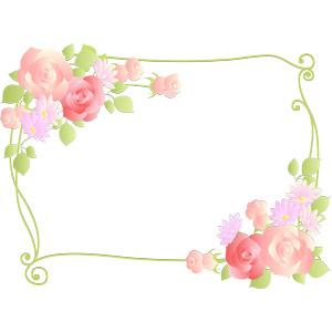 フリーイラスト, ベクター画像, AI, 背景, フレーム, 囲みフレーム, 植物, 花, 薔薇(バラ)