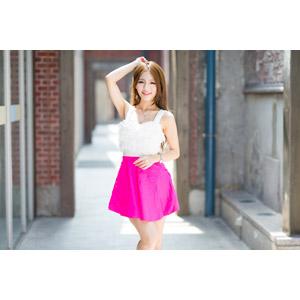 フリー写真, 人物, 女性, アジア人女性, Dora(00078), 中国人, ミニスカート