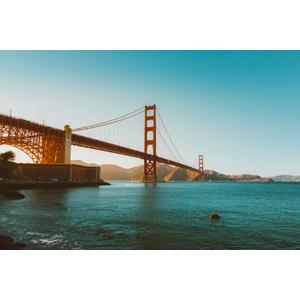 フリー写真, 風景, 建造物, 橋, ゴールデンゲートブリッジ, アメリカの風景, カリフォルニア州, サンフランシスコ