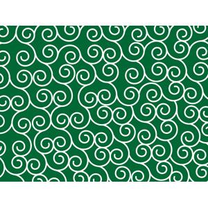 フリーイラスト, ベクター画像, AI, 背景, 和柄, 唐草模様, 緑色(グリーン)