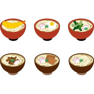 フリーイラスト, ベクター画像, AI, 食べ物(食料), 料理, 麺類, うどん, 日本料理, 和食