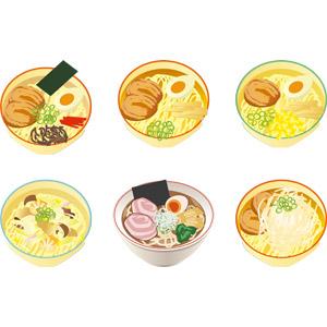 フリーイラスト, ベクター画像, AI, 食べ物(食料), 料理, 麺類, ラーメン, 日本料理