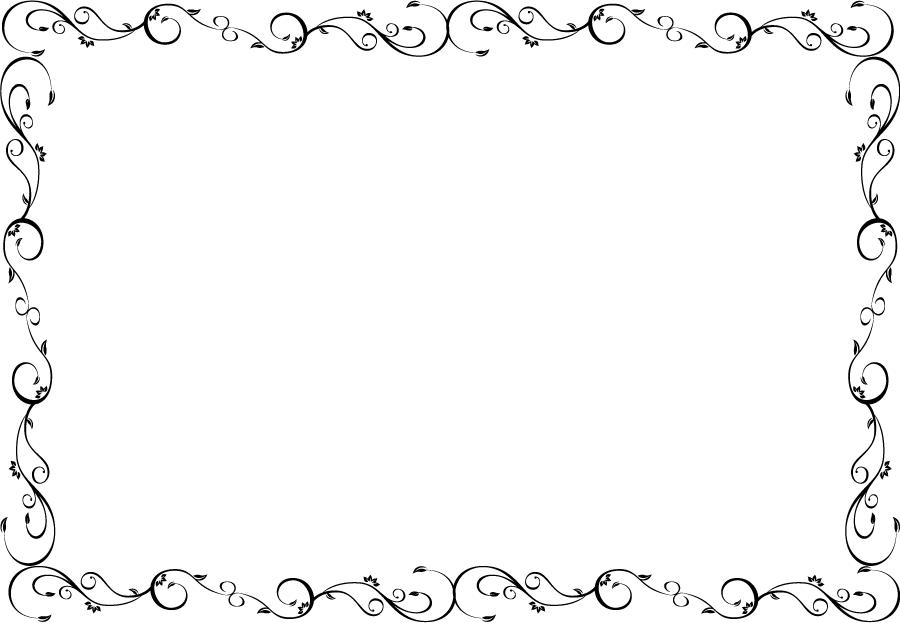 フリーイラスト 唐草模様の飾り枠