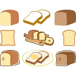 フリーイラスト, ベクター画像, AI, 食べ物(食料), パン, 食パン