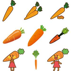 フリーイラスト, ベクター画像, AI, 食べ物(食料), 野菜, 人参(ニンジン)