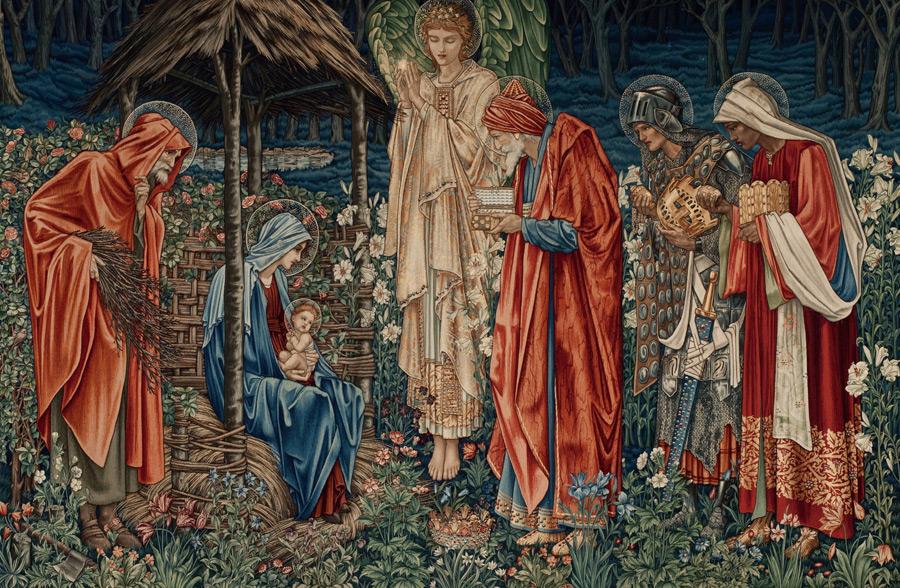 フリー絵画 エドワード・バーン=ジョーンズ作「東方三博士の礼拝」