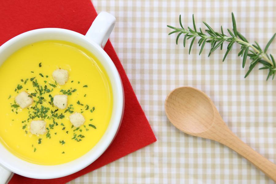 フリー写真 コーンスープ