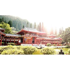 フリー写真, 風景, 建造物, 建築物, 寺院, お寺(仏閣), アメリカの風景, ハワイ州