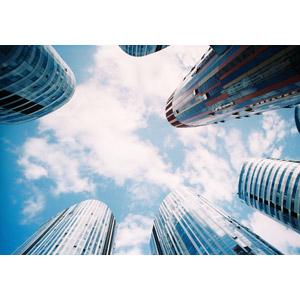 フリー写真, 風景, 建造物, 建築物, 高層ビル, 都市, 青空, 雲, 中国の風景, 北京市