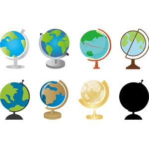 フリーイラスト, ベクター画像, AI, 模型, 地球儀, 地図, 地球