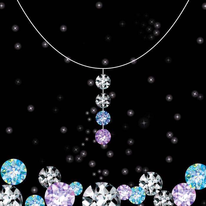 フリーイラスト ダイヤモンドとネックレス
