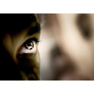 フリー写真, 人体, 目(眼), 見上げる