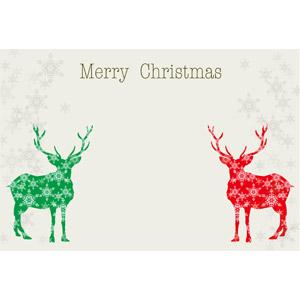 フリーイラスト, ベクター画像, AI, 背景, 年中行事, クリスマス, 12月, 冬, 雪の結晶, トナカイ, メリークリスマス