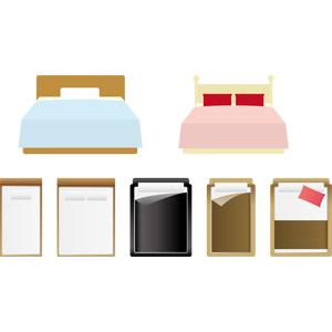 フリーイラスト, ベクター画像, AI, 家具, ベッド