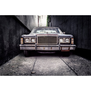 フリー写真, 乗り物, 自動車, セダン, フォード, 廃車(放置自動車)