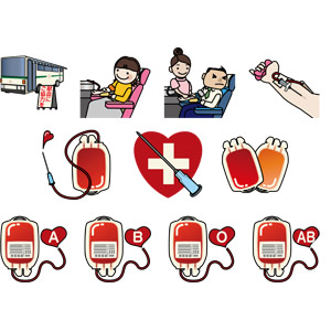 フリーイラスト, ベクター画像, AI, 献血, 採血, バス, 医療器具, 医療, 血液, ボランティア