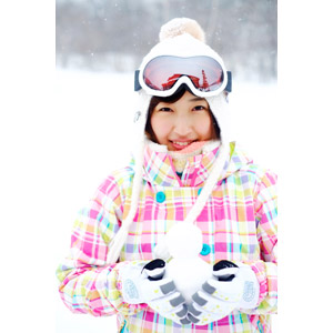 フリー写真, 人物, 女性, アジア人女性, 日本人, 女性(00043), 雪, 冬, 雪だるま, スノーゴーグル