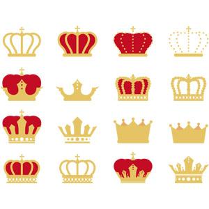 フリーイラスト, ベクター画像, AI, 装飾品(アクセサリー), 冠, 王冠(クラウン)