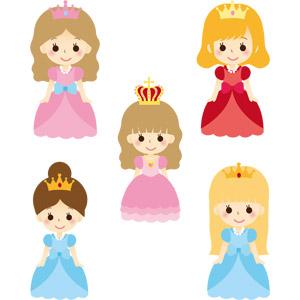 フリーイラスト, ベクター画像, AI, 人物, 女性, お姫様, 王女(プリンセス), 女王(クイーン), ドレス, 王冠(クラウン)