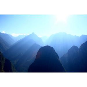 フリー写真, 風景, 自然, 山, アンデス山脈, 太陽光(日光), 薄明光線, ペルーの風景