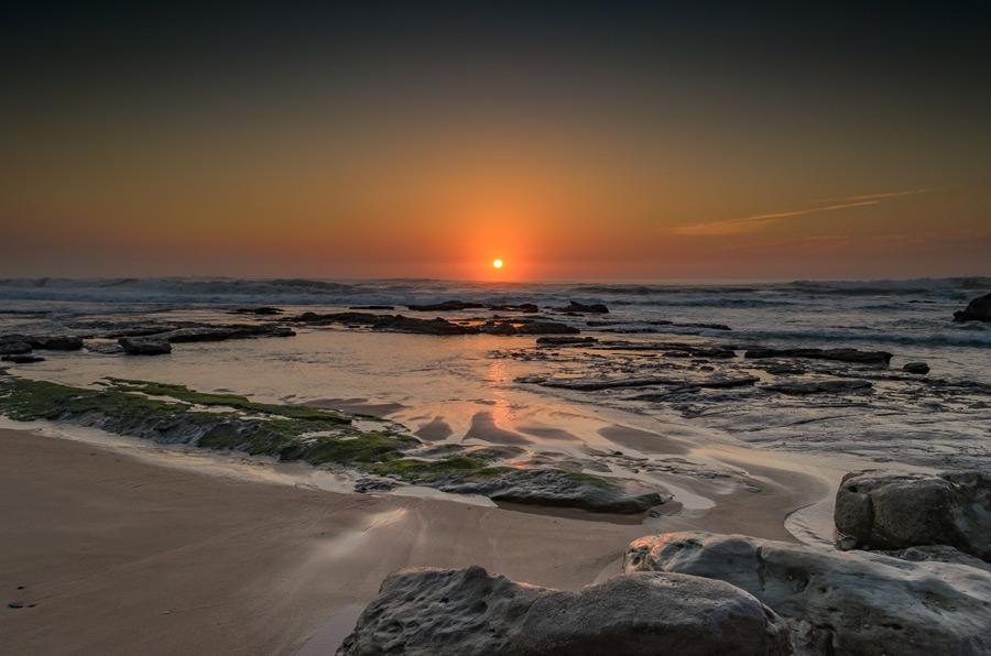 フリー写真 ポルトガルの夕暮れのビーチ