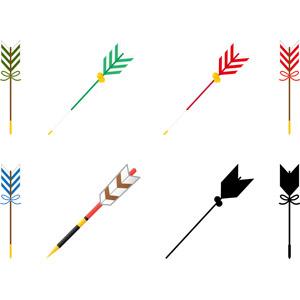 フリーイラスト, ベクター画像, AI, 年中行事, 正月, 元旦(元日), 1月, 破魔矢, 矢, 日本神道