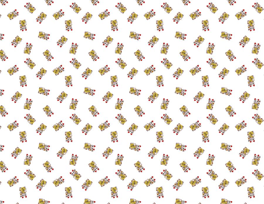 フリーイラスト 招き猫のパターン背景