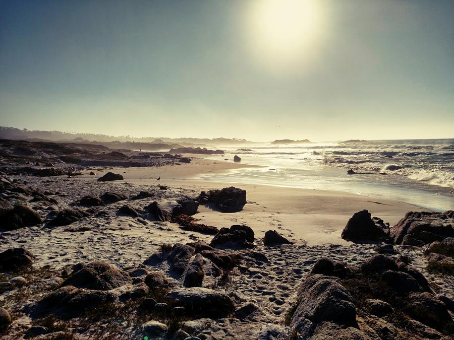 フリー写真 カリフォルニア州のペブル・ビーチの風景