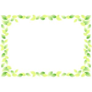 フリーイラスト, ベクター画像, EPS, 背景, フレーム, 囲みフレーム, 植物, 葉っぱ, 新緑