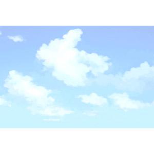 フリーイラスト, 風景, 自然, 空, 青空, 雲