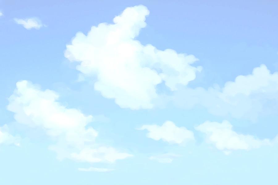 フリーイラスト 青空の風景