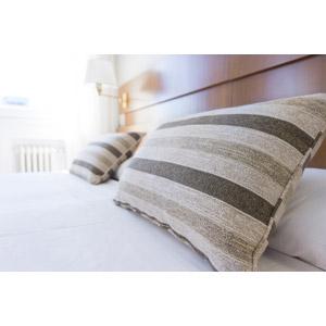 フリー写真, 風景, ホテル, ベッド, 枕