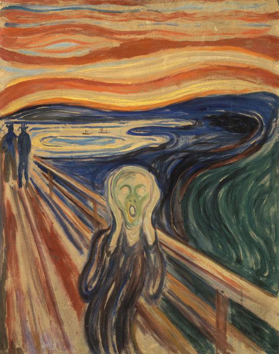フリー絵画 エドヴァルド・ムンク作「叫び」