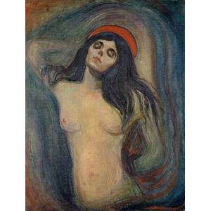 フリー絵画, エドヴァルド・ムンク, 宗教画, キリスト教, 新約聖書, 聖母マリア