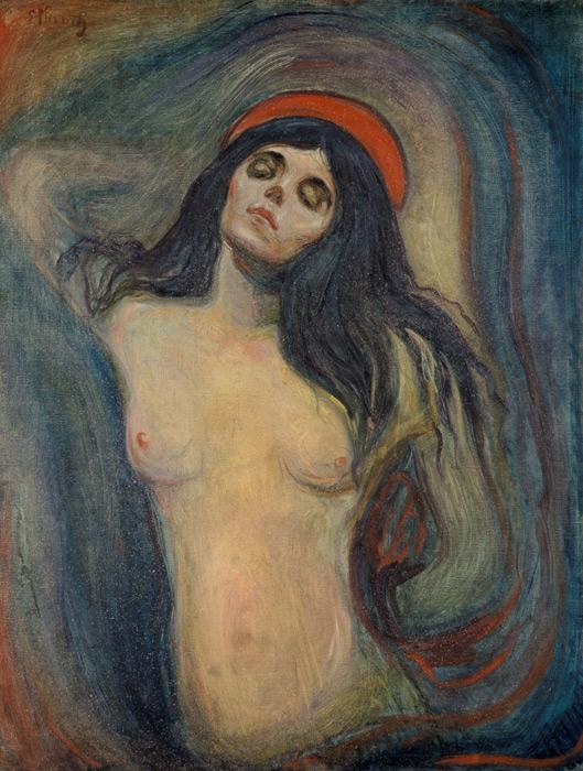フリー絵画 エドヴァルド・ムンク作「マドンナ」