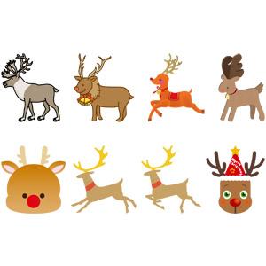 フリーイラスト, ベクター画像, AI, 動物, 哺乳類, トナカイ, クリスマス, 12月, 動物の顔