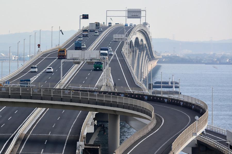 フリー写真 東京湾アクアラインの風景