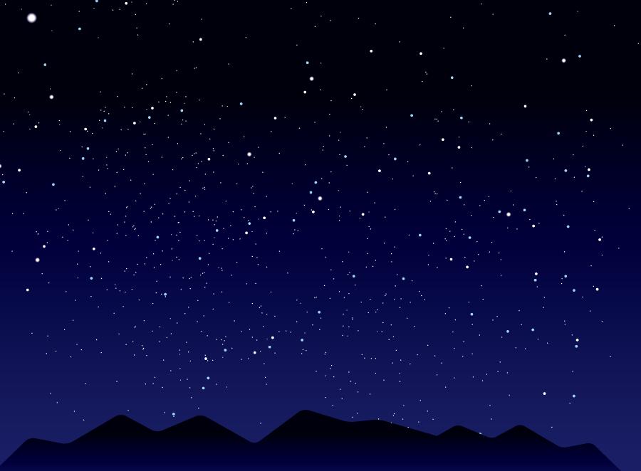 フリーイラスト 星空の風景