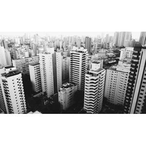 フリー写真, 風景, 建造物, 建築物, 高層ビル, 住宅, マンション(団地), 都市, 街並み(町並み), ブラジルの風景, サンパウロ