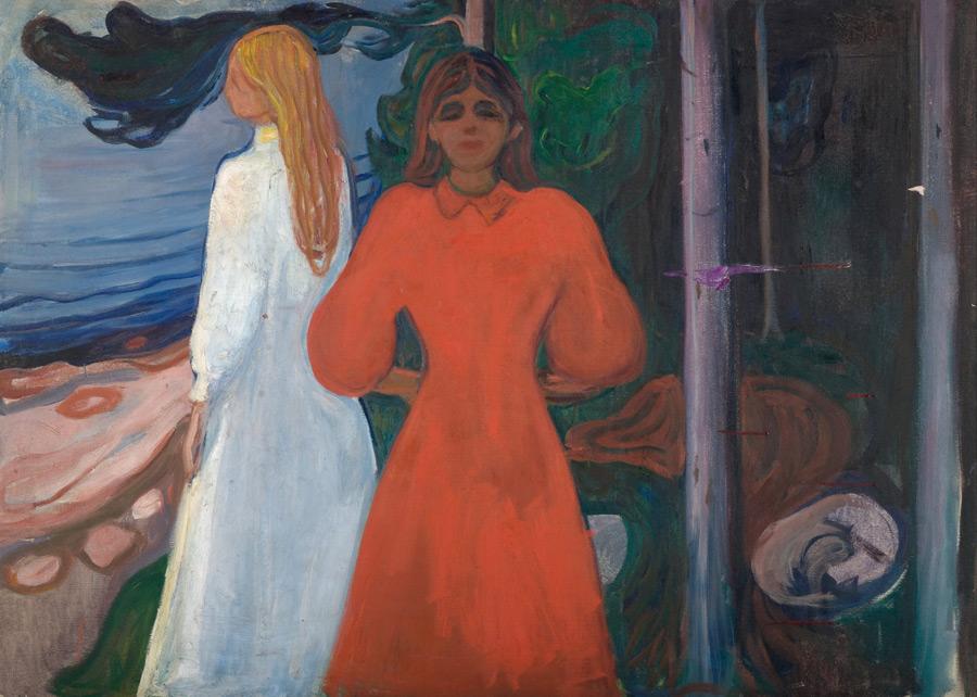 フリー絵画 エドヴァルド・ムンク作「赤と白」