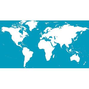 フリーイラスト, 世界地図, 地図