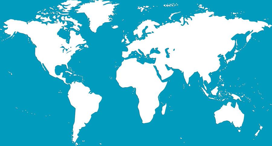 フリーイラスト 世界地図
