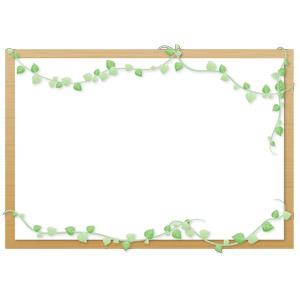 フリーイラスト, ベクター画像, AI, 背景, フレーム, 囲みフレーム, 掲示板, つる植物