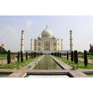 フリー写真, 風景, 建造物, 建築物, 廟, タージ・マハル, 世界遺産, インドの風景