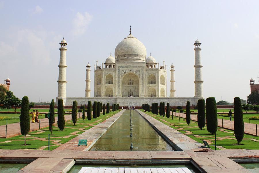 フリー写真 インドの世界遺産タージマハル
