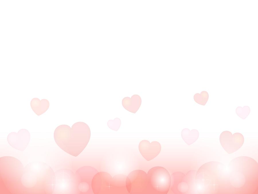 フリーイラスト ピンク色のハートの背景